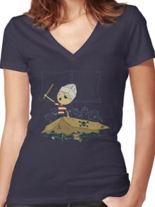 Garr Women's Fitted V-Neck T-Shirt
