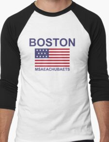 BOSTON MSAEACHUBAETS Men's Baseball ¾ T-Shirt
