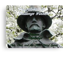 Banner for challenge winner - Statues Canvas Print