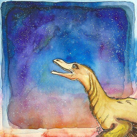 Space Velociraptor by AunJuli