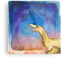 Space Velociraptor Metal Print