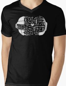 DAFT CIRCUIT Mens V-Neck T-Shirt