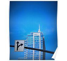 Blue Sky Blue Bldg Poster