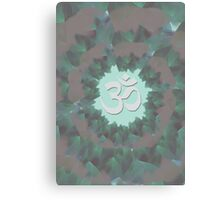 Om and Lotus Flowers  Canvas Print
