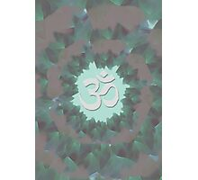 Om and Lotus Flowers  Photographic Print
