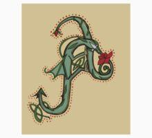 Celtic Oscar letter A Sticker by Donna Huntriss