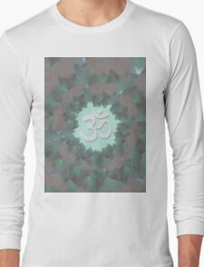 Om and Lotus Flowers  Long Sleeve T-Shirt