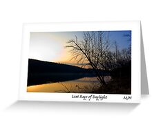 Last Rays of Daylight Greeting Card