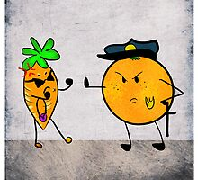 Justice Fruit and Criminal Carrot by AlexisSymons