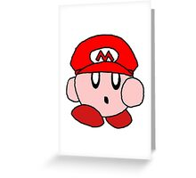 Supersized Mario Kirby  Greeting Card