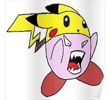 Super Sized Pika Kirby Poster
