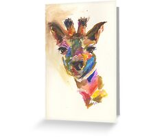 Giraffe of Many Colors Greeting Card