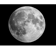 The Moon: Earth's Little Pet Photographic Print
