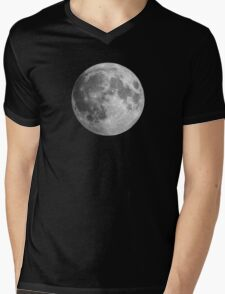 The Moon: Earth's Little Pet Mens V-Neck T-Shirt