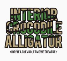 Interior Crocodile Alligator One Piece - Long Sleeve