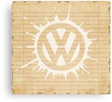 VW splat white Canvas Print