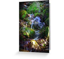 MountainSide Trickle Greeting Card
