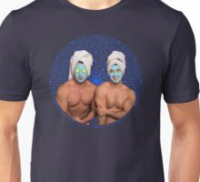 Fausto and Marc wearing a mud mask Unisex T-Shirt