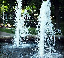 Stillstanding Fountain by Norbert Karpen