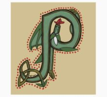 Celtic Oscar letter P Sticker by Donna Huntriss