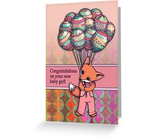 Congratulations on your new baby girl! Greeting Card