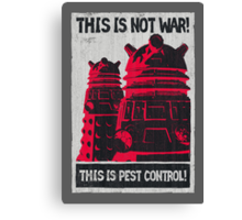 Planetary Pest Control Canvas Print