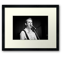 Chris Russell at Deni Blues & Roots Fest Framed Print