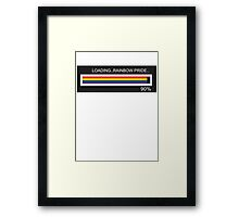 RAM Design Loading Rainbow Pride Plate #62 Framed Print