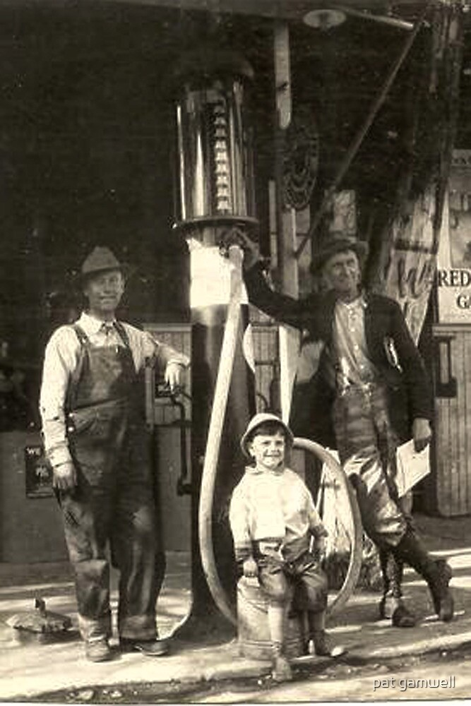 West Point, CA...1905 Gas Station by pat gamwell