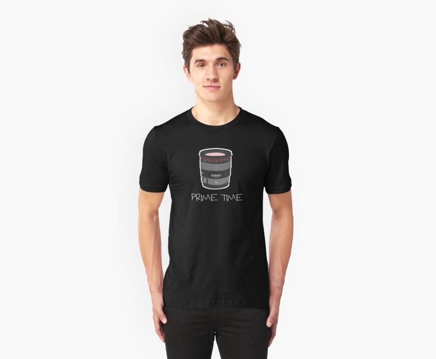 Prime Time Lens T-Shirt (Dark) by David Gray