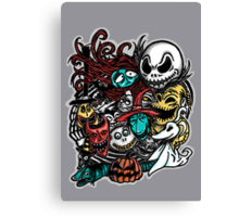 Nightmarish Characters Canvas Print