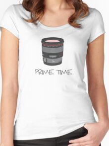 Prime Time Lens T-Shirt (light) Women's Fitted Scoop T-Shirt