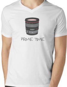 Prime Time Lens T-Shirt (light) Mens V-Neck T-Shirt