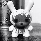Kidrobot Dunny Luke Cheuh figure black and white by crustyjusty