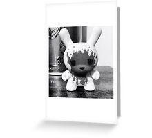 Kidrobot Dunny Luke Cheuh figure black and white Greeting Card