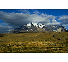 leaving torres del paine Photographic Print