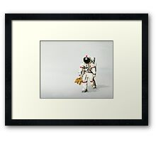 Space can be lonely Framed Print