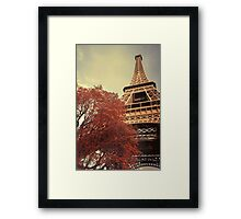 The Eiffel Tower during Autumn Framed Print