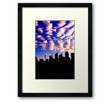 City Silhouette - Sydney 2013 Framed Print