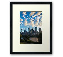Sydney City Skyline Framed Print