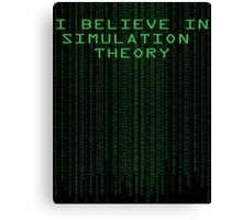 Simulation Theory Canvas Print