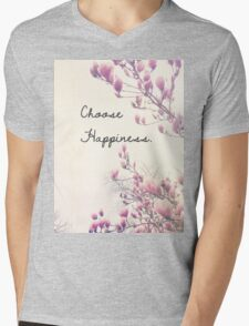 Choose Happiness Mens V-Neck T-Shirt