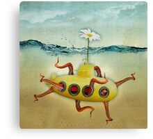 yellow submarine in an octopuses garden Canvas Print