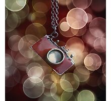 Red Camera Brokeh Photographic Print