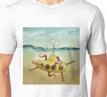 yellow submarine in an octopuses garden Unisex T-Shirt