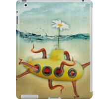 yellow submarine in an octopuses garden iPad Case/Skin