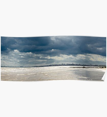 The sea at Bridlington, East Yorkshire Poster