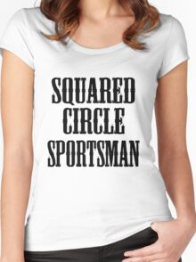 old timey wrestler Women's Fitted Scoop T-Shirt