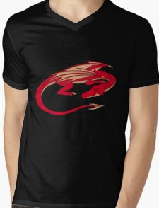 Smaug, the red dragon Mens V-Neck T-Shirt