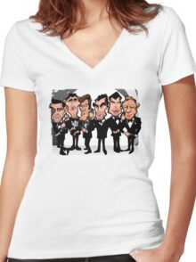 Six Faces One Iconic Spy Women's Fitted V-Neck T-Shirt